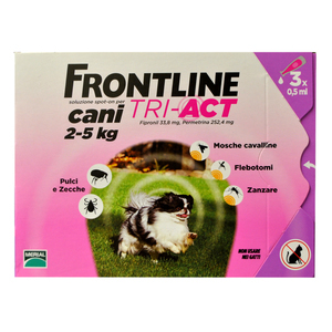 frontline tri act cani 2 5kg 3 pipette farmaself a. Black Bedroom Furniture Sets. Home Design Ideas