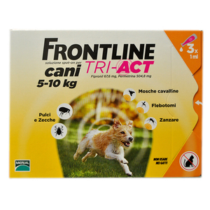 Frontline Tri-act Cani 5-10kg 3 pipette
