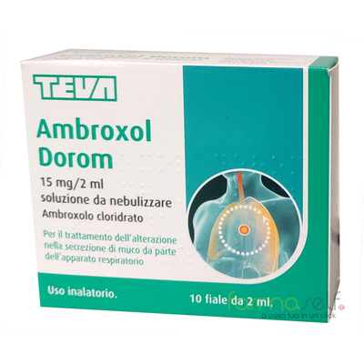 Ambroxol Dorom 15mg/2ml 10Fiale